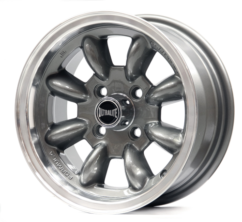 ULTRALITE MINI WHEELS 13X6J - ET10 - 4x101.6 PCD - GUN GREY POLISHED RIM / SPML2GM