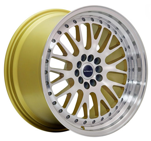 ULTRALITE UL10 18x9.5 - ET20 - 5x112+100 PCD -  GOLD MACHINED FACE / UL10-1895-2GLMF